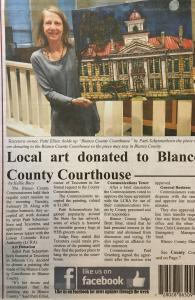 Artwork Donated To Blanco County Courthouse