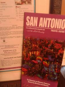 The Art Work Of Patti Schermerhorn On The Cover Of The 2012 Fall Edition Of The San Antonio Travel Guide